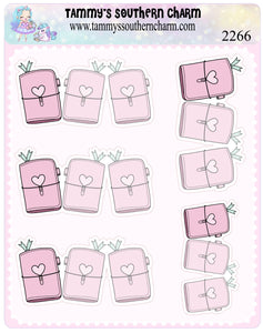2266 - TN NOTES - FOLD OVER STICKERS