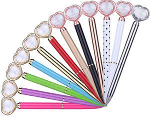 2233 - HEART SHAPED DIAMOND TOP PENS (CHOICE OF COLOR)
