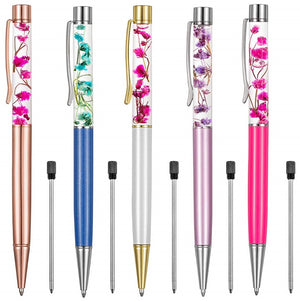 2128 - LIQUID FLOWER PENS (CHOICE OF COLOR)