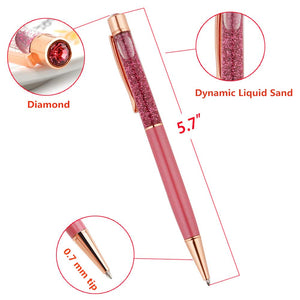 2112 LIQUID GLITTER PENS WITH DIAMOND ACCENT (CHOICE OF COLOR)