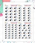 1449P - SICK DAY PENGUIN - MINI SHEETS (INSTANT DOWNLOAD)