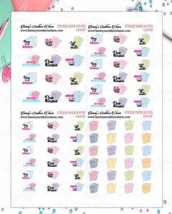 1693P - STICKER PAPER QUOTES - MINI SHEETS (INSTANT DOWNLOAD)