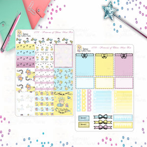 1770 PRINCESS OF SHOES - Stickers, Planner Stickers, Traveler's nb stickers, Planner Layout, cinderella inspired