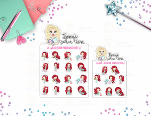 1834 Red Hair Mermaid (Set 3)