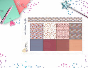 1860.8 - AUTUMN FAIRY TALE - WASHI STRIPS  30 WASHI STRIPS SHEET SIZE:  W: 7.500 IN X H: 4.600 IN