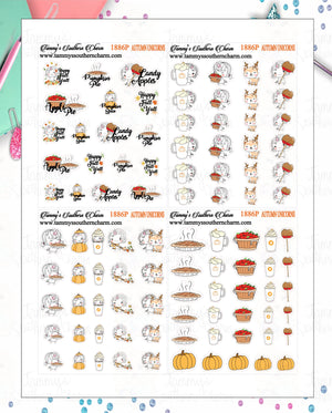 1886P - AUTUMN UNICORNS - MINI SHEETS (INSTANT DOWNLOAD)