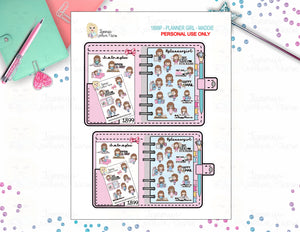 1899P - PLANNER GIRL - MADDIE  (INSTANT DOWNLOAD)