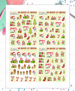1919P - GROUCHY CAT CHRISTMAS - MINI SHEETS (INSTANT DOWNLOAD)