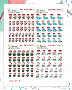 1921P - BUSY SANTA - MINI SHEETS (INSTANT DOWNLOAD)