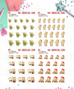 1945P - CHRISTMAS GIRLS - SET 2 - BLONDE HAIR -  MINI SHEETS (INSTANT DOWNLOAD)
