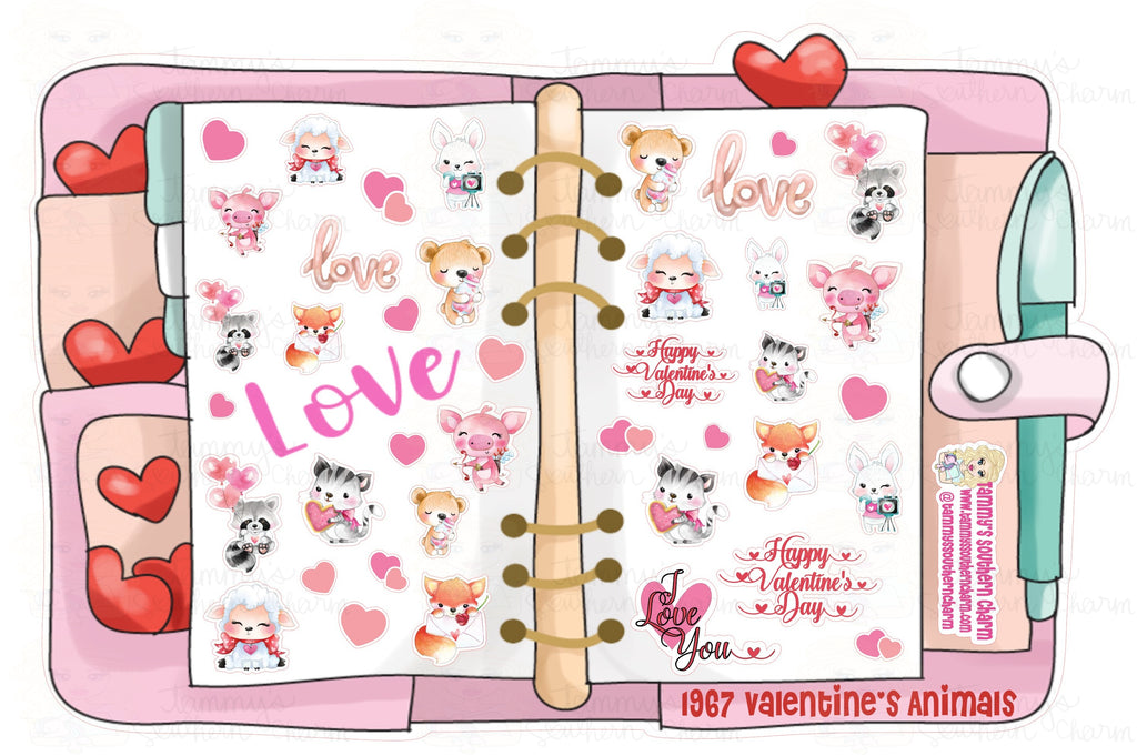 1967P - VALENTINE'S ANIMALS - (INSTANT DOWNLOAD)