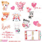 1969P - VALENTINE'S ANIMALS - DIE CUTS (INSTANT DOWNLOAD)
