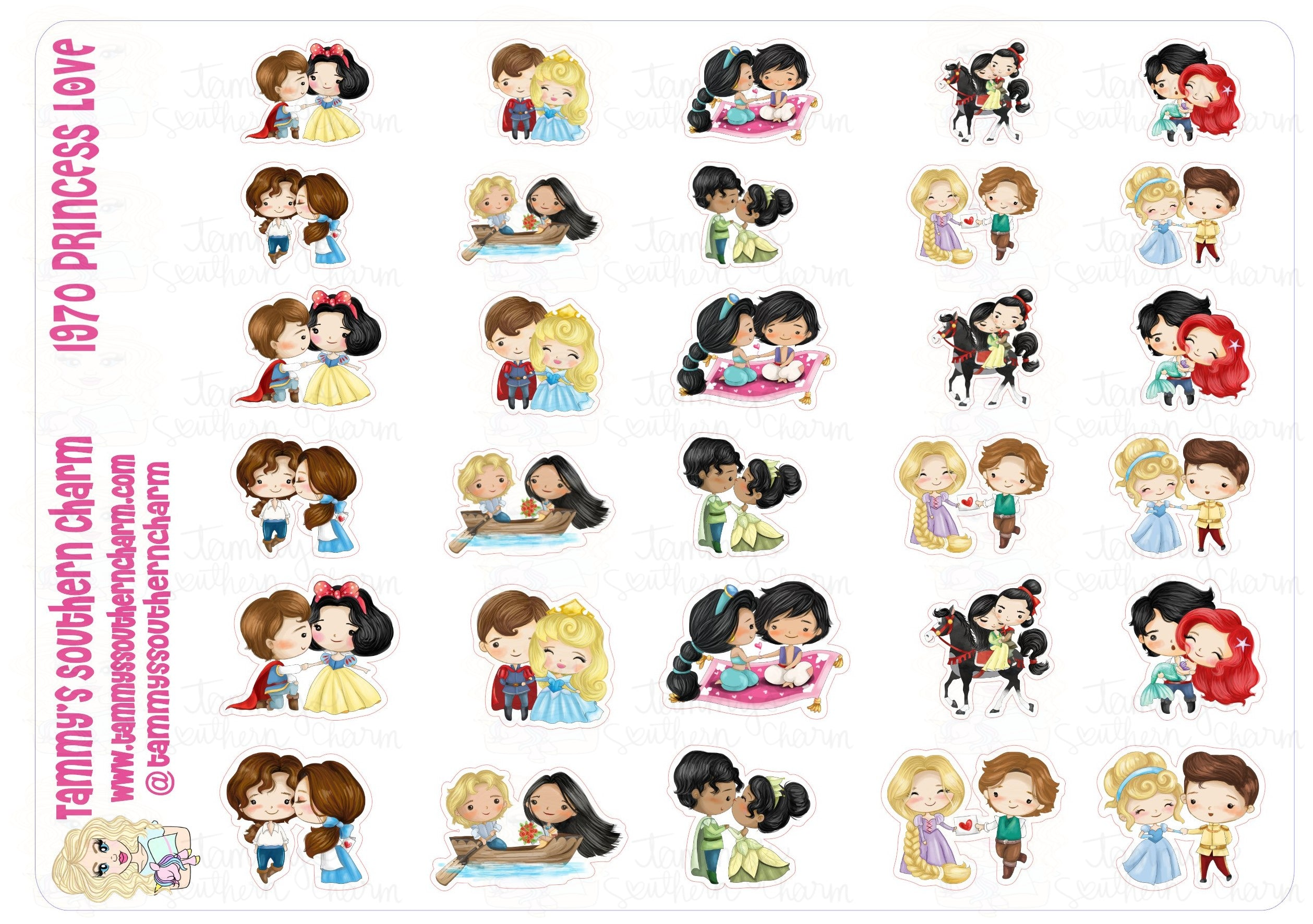 1970 - PRINCESS LOVE (STICKERS)