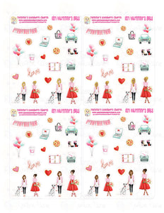 1971P - VALENTINE'S GIRLS (ALL 4 SETS) - MINI SHEETS (INSTANT DOWNLOAD)