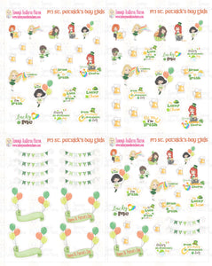 1974P - ST. PATRICK'S DAY GIRLS - MINI SHEETS (INSTANT DOWNLOAD)