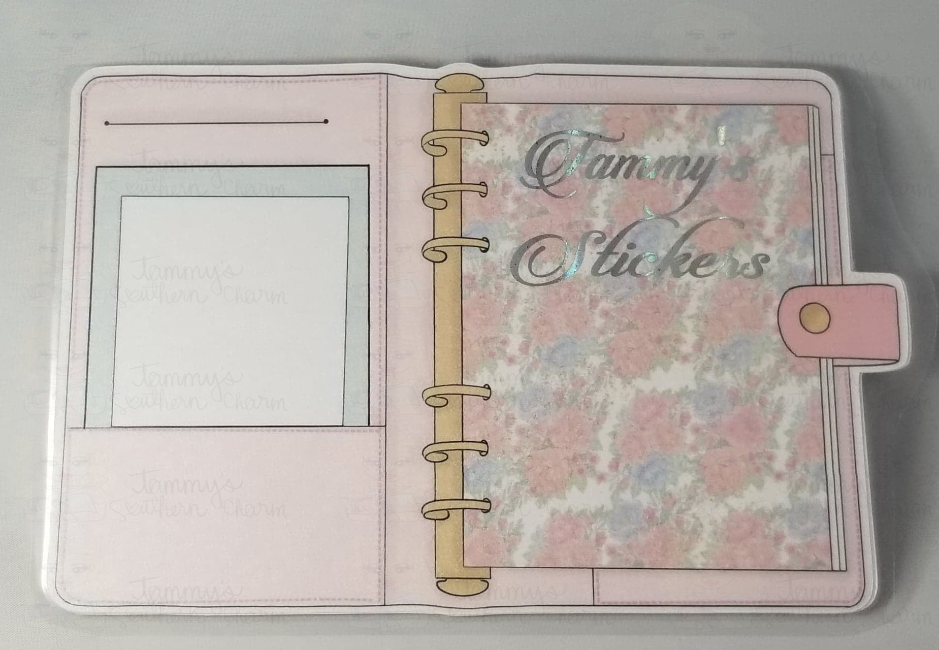 1962P - PINK FLORAL PLANNER - STICKER POUCH - SMALL (INSTANT DOWNLOAD)