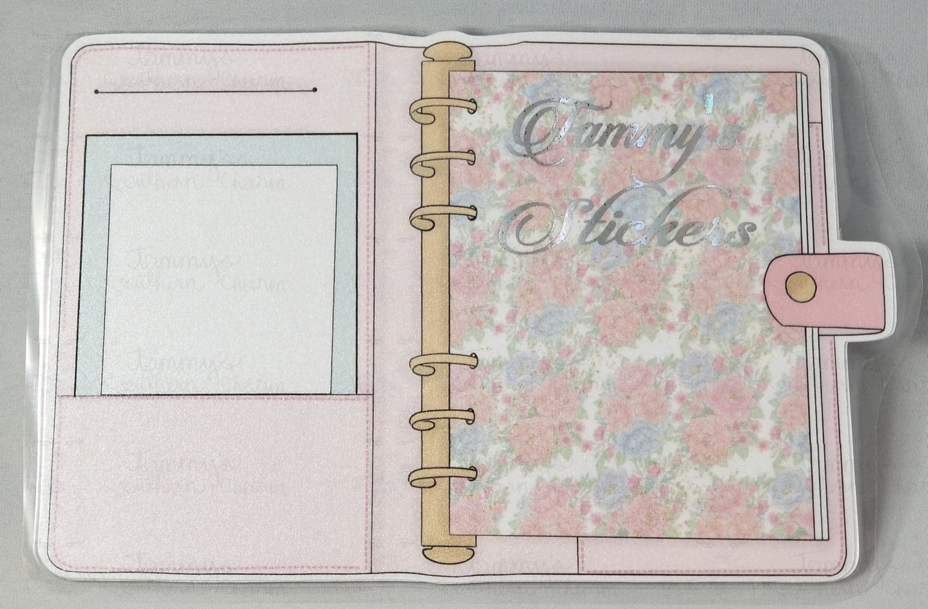 1962 - PINK FLORAL PLANNER - STICKER POUCH (SMALL)