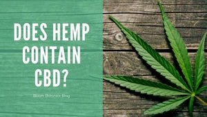 Does Hemp Contain CBD?