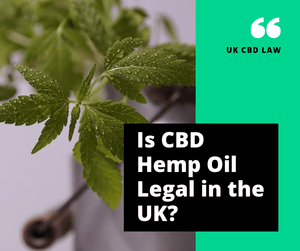 Is CBD Hemp Oil Legal In The UK?