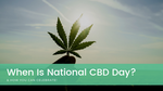 When is National CBD Day?