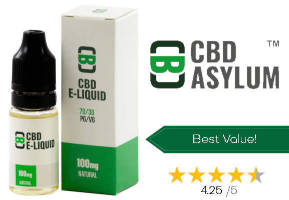 CBD Asylum no. 3 best CBD e-liquid uk
