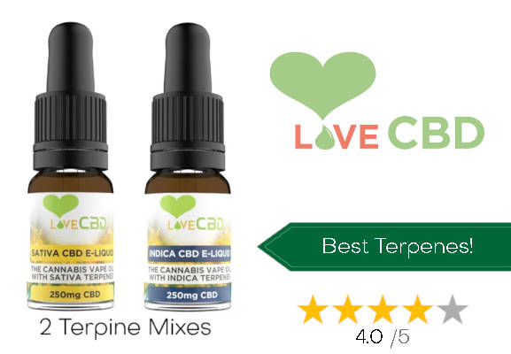 Love CBD no. 6 Best CBD E-liquid uk