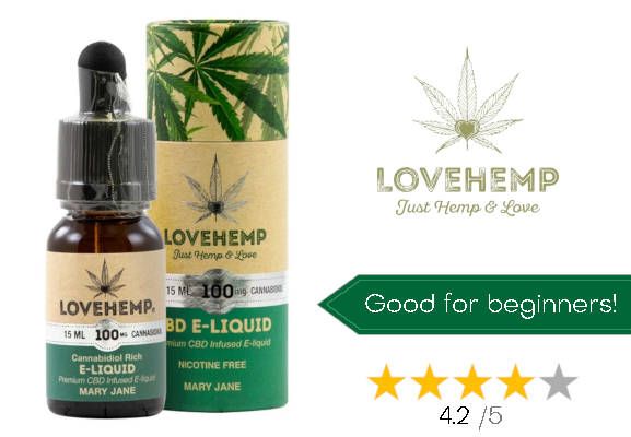 Love Hemp no.4 best CBD E-liquid uk