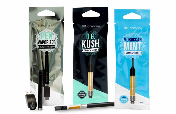 Harmony CBD Vape pen kit UK - all accessories