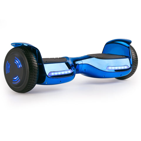 XPRIT Hoverboard Chome Blue with Wireless Speaker, UL2272 Certified