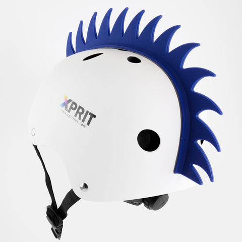 XPRIT Mohawk, Warhawk Wig Accessory Adhesive/Stick On Helmet for Skateboarding, Dirt-Bikes, Motorcycle, Cycling, Blue