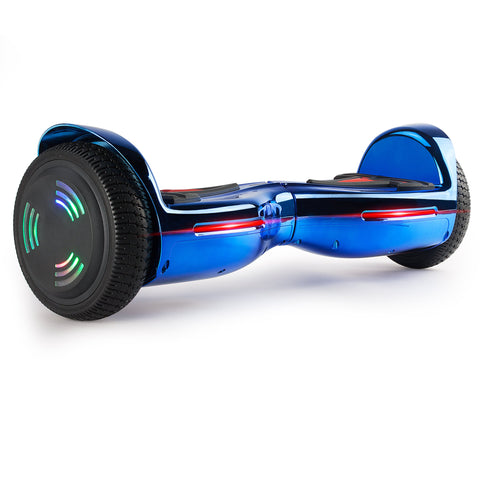 XPRIT 6.5 Inch Hoverboard Chrome Blue