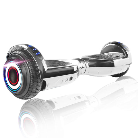 "XPRIT 6.5"" Silver Hoverboard UL2272 certified with Wireless Speaker Free Shipping."