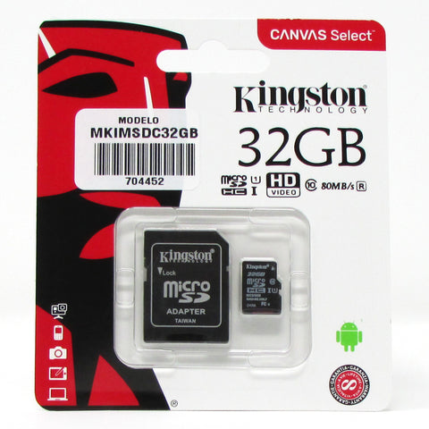 Memoria KINGSTON MICRO SDC con ADAPTADOR 32 GB G4