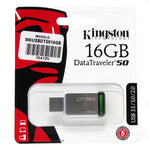 Memoria Kingston USB Modelo DT50 16 GB GREEN