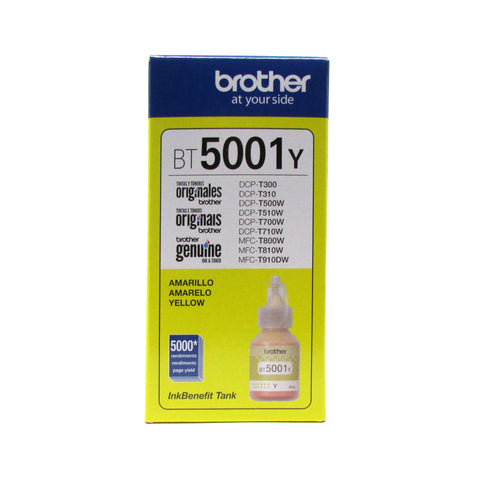 Botella de Tinta Original BROTHERBT5001Y YELLOW