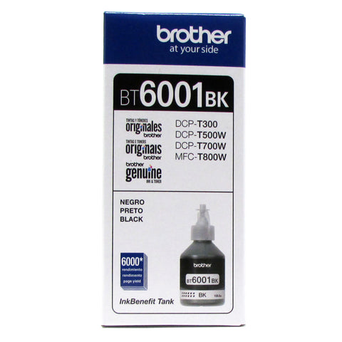 Botella de Tinta Original BROTHER BT6001BK NEGRO
