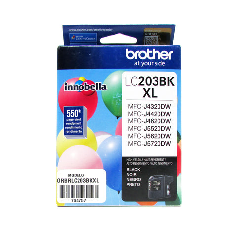 Cartucho ORIGINAL BROTHER LC203BKXL NEGRO Alto Rendimiento