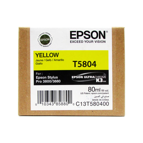 Cartucho ORIGINAL EPSON T5804 YELLOW