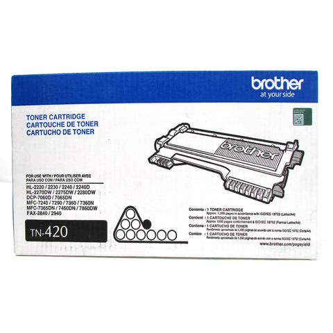 Cartucho de Tóner Original para BROTHER TN-420, NEGRO