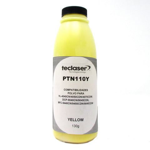 Polvo de Tóner Compatible con BROTHER TN110, TN115, YELLOW