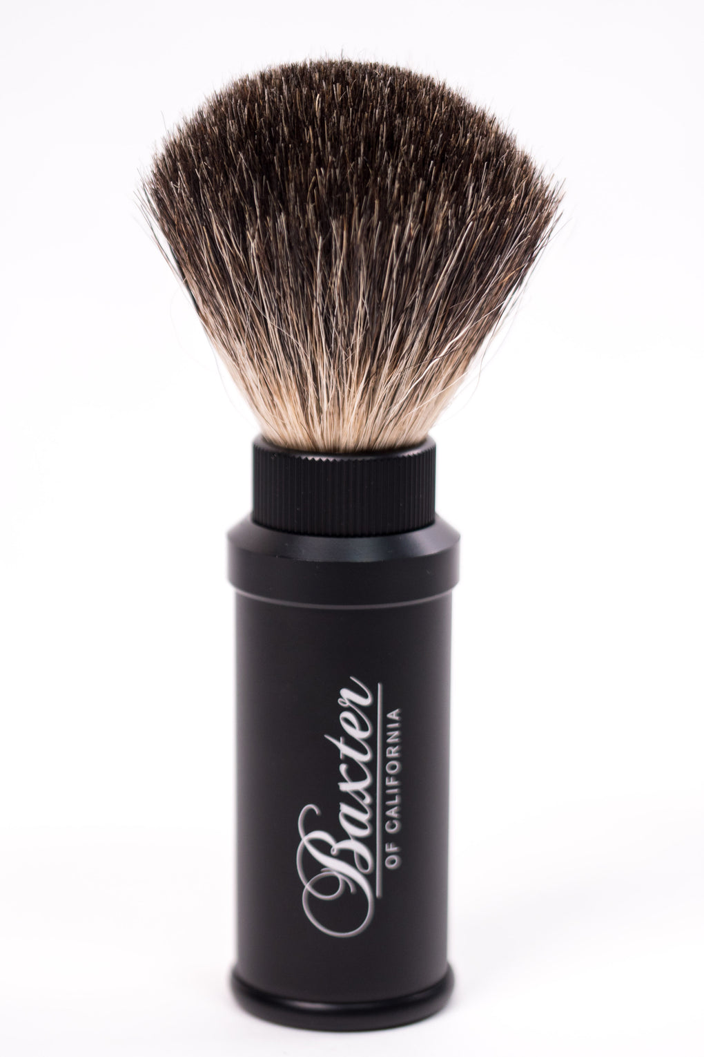 Baxter Badger Hair Aluminum Travel Shave Brush at Consigliere