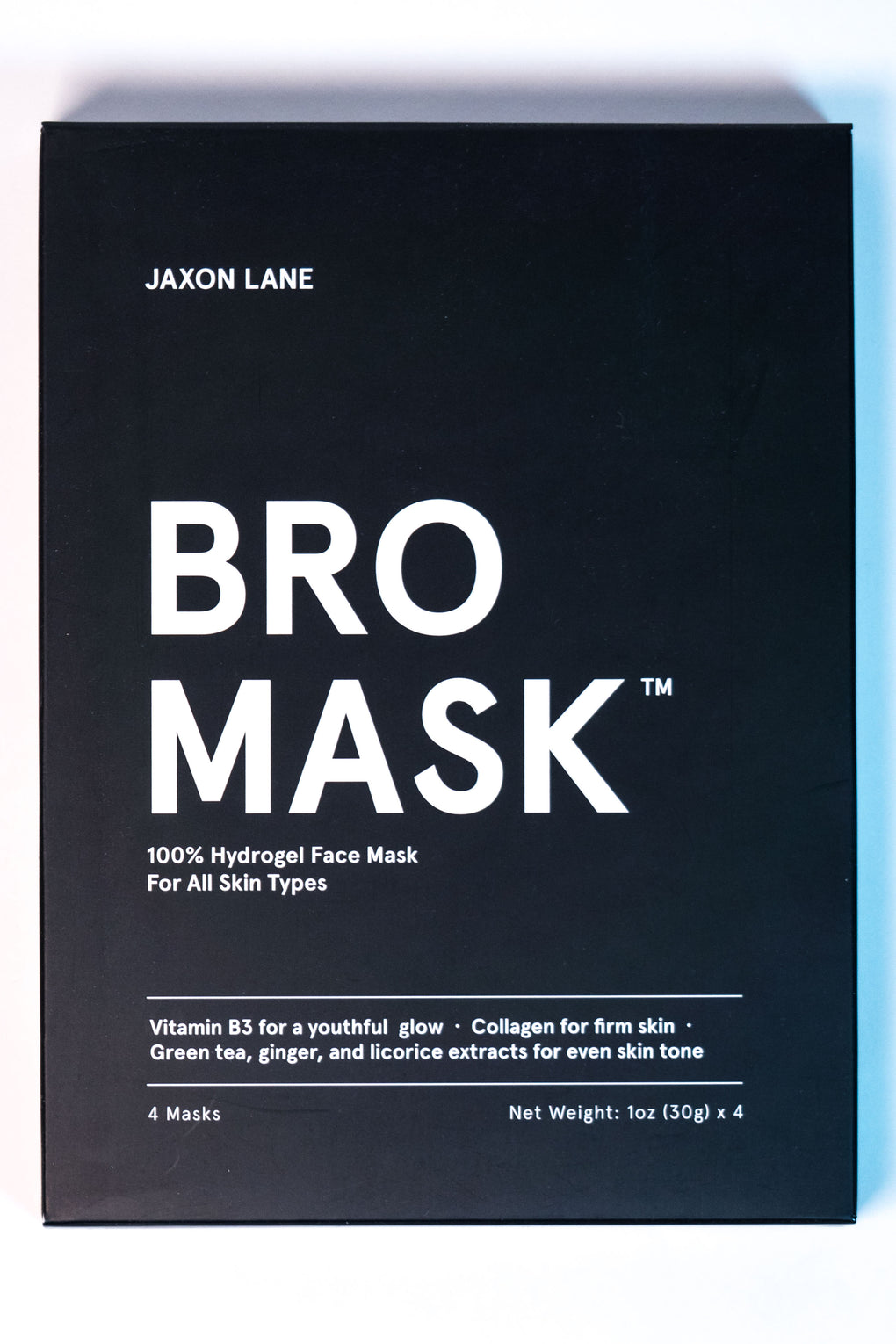 BRO MASK 4-PACK HYDROGEL SKINCARE MASK