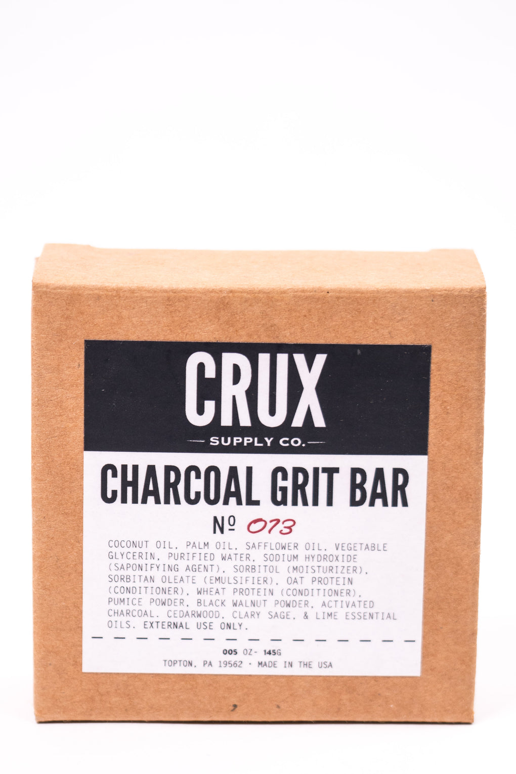 Crux Charcoal Grit Soap at Consigliere
