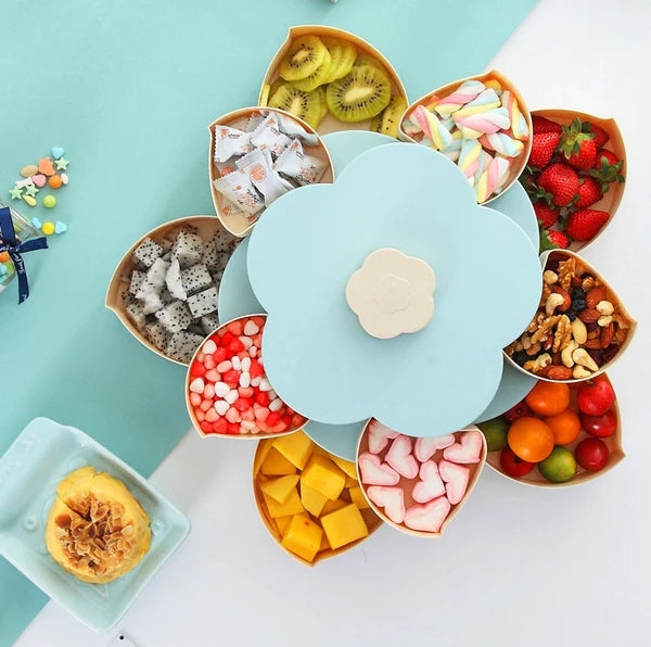 Automatic Flower Petal Snack Holder Holds 10 Different Snacks and Candies