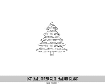 Christmas Tree Ornament Sublimation #1101