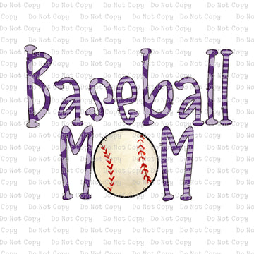Baseball Mom #K-128- SUBLIMATION