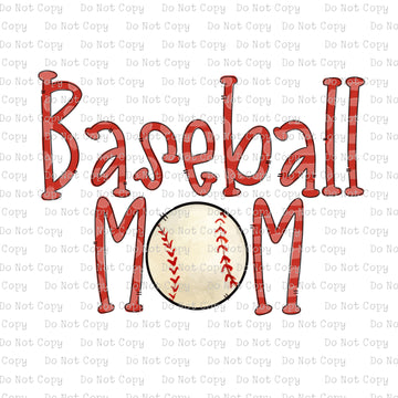 Baseball Mom #K-129- SUBLIMATION