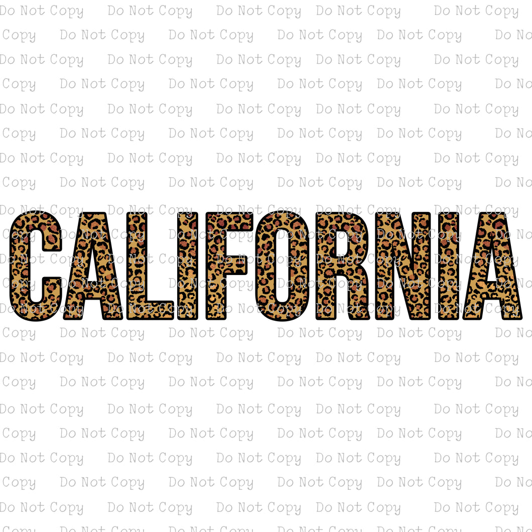 California Leopard #K-165 - HEAT TRANSFER