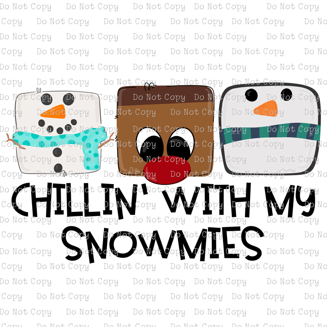 Chillin with my Snowmies #2020-24 - HEAT TRANSFER
