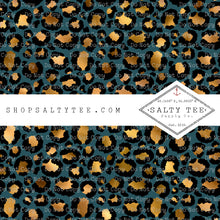 Load image into Gallery viewer, TEAL ME LEOPARD #BTS2-14 - SHEET VINYL